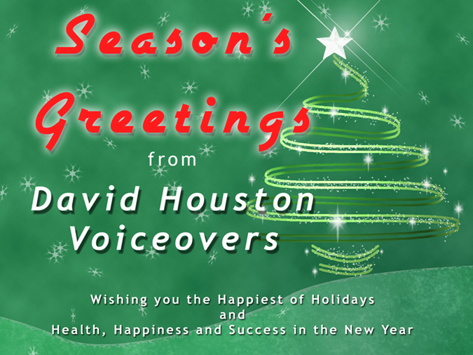 Season's Greetings from David Houston Voiceovers