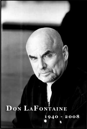 Actor and voiceover artist Don LaFontaine, who created and perfected the art of the movie-trailer voiceover, was inexplicably omitted from the 81st Academy Awards' montage of deceased luminaries.